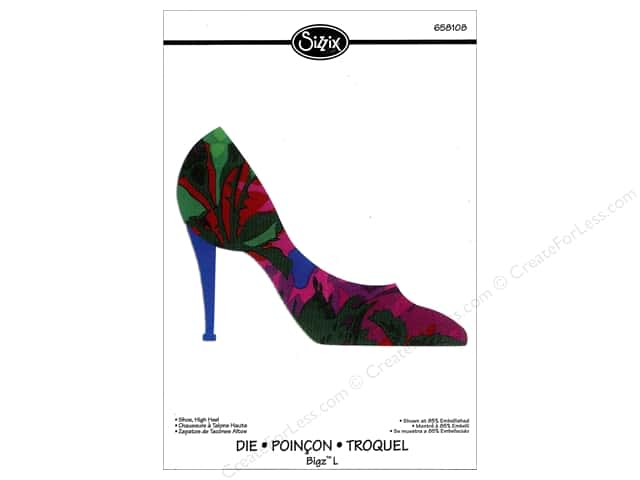 Sizzix Bigz L Die Shoe, High Heel by Rachael Bright