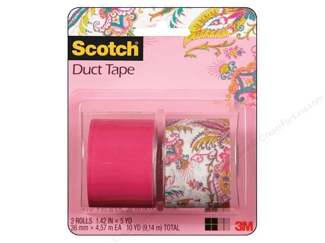 Scotch Tape Duct Pink Paisley, Pink 2pc