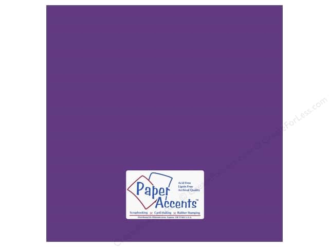 Cardstock 12 x 12 in. #18052 Smooth Concord Grape (25 sheets)