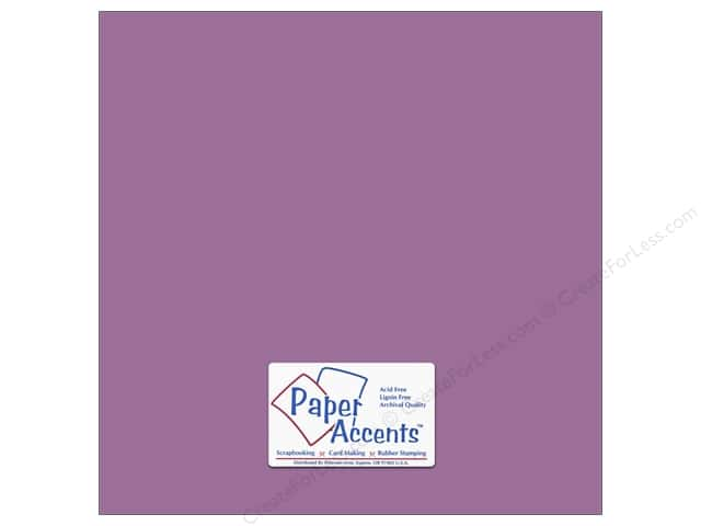 Cardstock 12 x 12 in. #18056 Smooth Purple Pizzazz by Paper Accents (25 sheets)