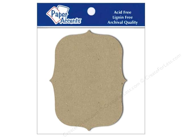 Paper Accents Chipboard Shape Marquee #4 8 pc. Kraft