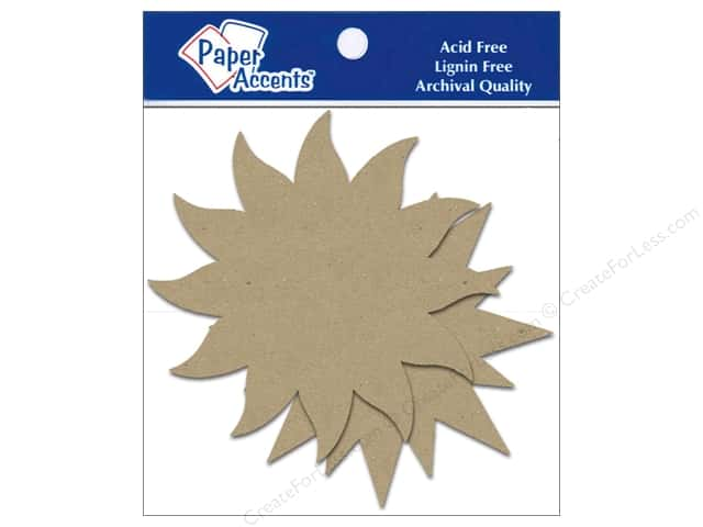 Paper Accents Chipboard Shape Starburst 8 pc. Kraft