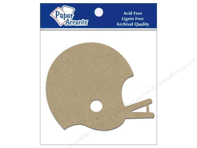 Paper Accents Chipboard Shape Football Helmet 8 pc. Kraft
