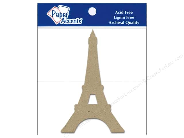 Paper Accents Chipboard Shape Eiffel Tower 8 pc. Kraft