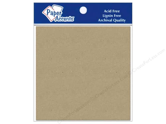 Paper Accents Chipboard Shape Square 5 pc.Kraft