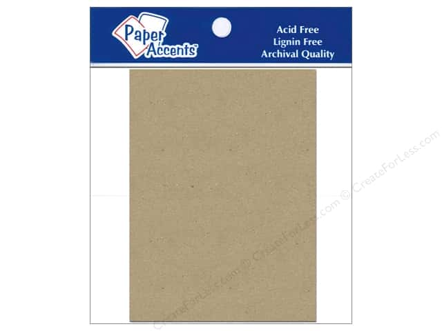 Paper Accents Chipboard Shape Rectangle 5 pc. Kraft