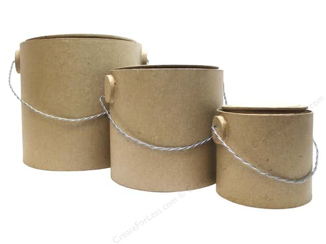 Paper Mache Paint Buckets 3pc by Craft Pedlars (4 sets)