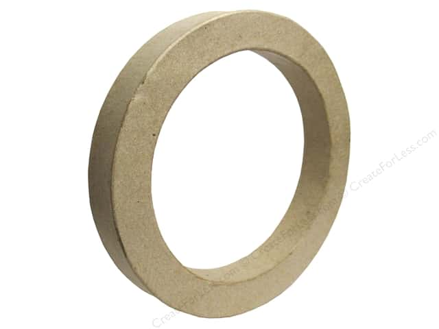 Paper Mache Open Circle Kraft by Craft Pedlars
