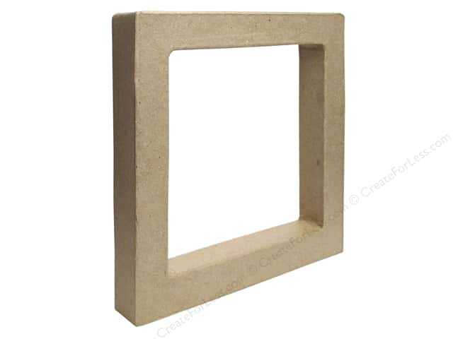 Paper Mache Open Square Kraft by Craft Pedlars