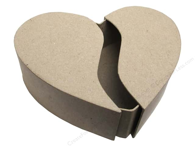 Paper Mache Box Heart Slide Cover by Craft Pedlars