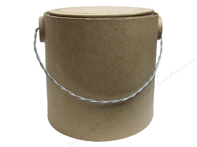 Paper Mache Paint Bucket Medium Kraft by Craft Pedlars