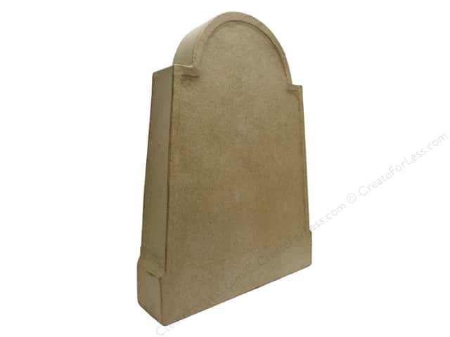 Paper Mache Plain Tombstone by Craft Pedlars