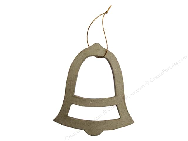 Paper Mache Ornament Open Bell Kraft by Craft Pedlars