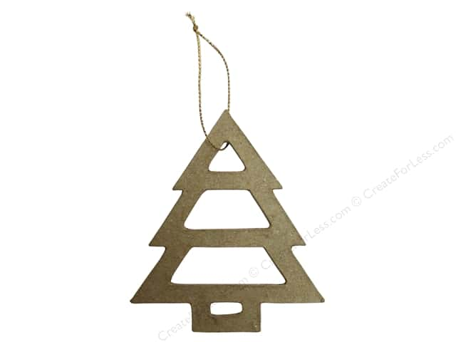Paper Mache Ornament Open Tree Kraft by Craft Pedlars