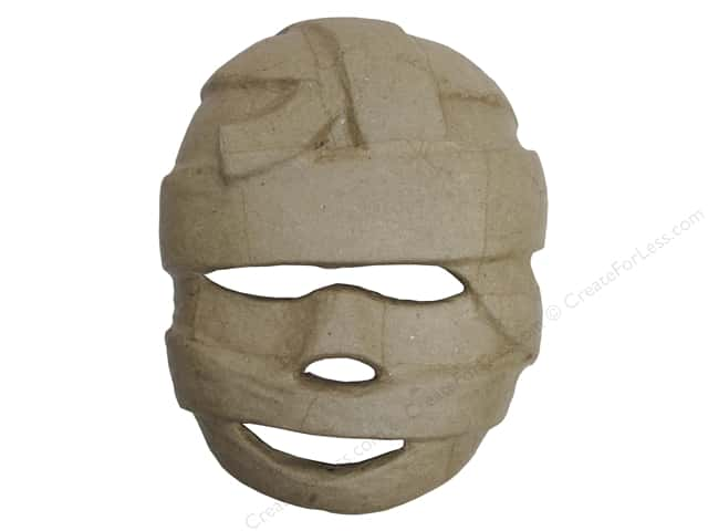 Paper Mache Mask Mummy by Craft Pedlars