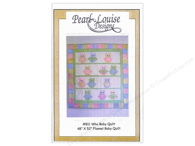 Pearl Louise Designs Who Baby Quilt Pattern