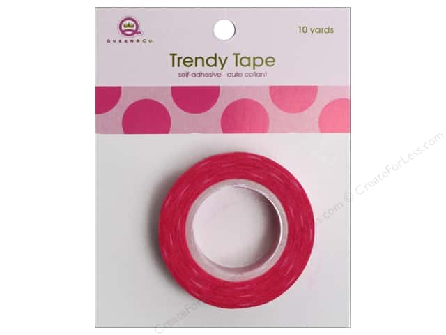 Queen&Co Trendy Tape 10yd Mega Dot Pink