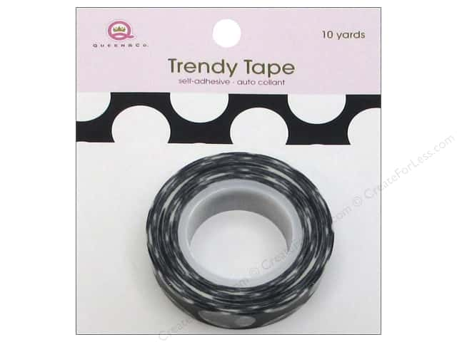 Queen&Co Trendy Tape 10yd Mega Dot Black