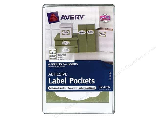 Avery Adhesive Label Pockets 6 pc.