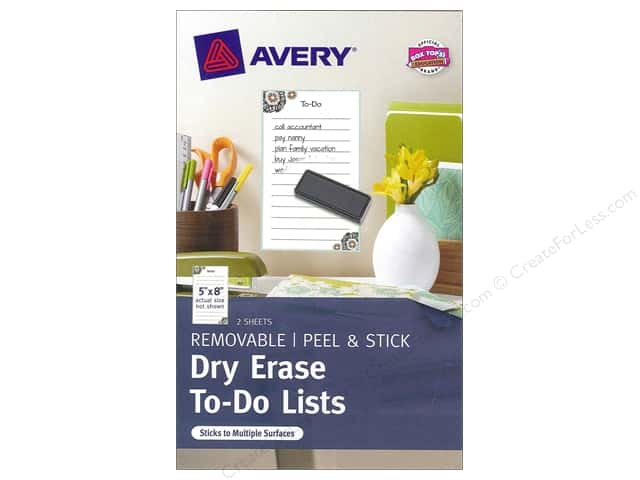 "Avery Adhesive Decal Dry Erase 5""x 8"" To Do List"