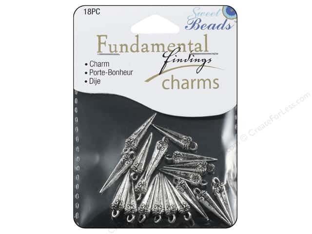 Sweet Beads Fundamental Finding Charms 18 pc. Spike Silver