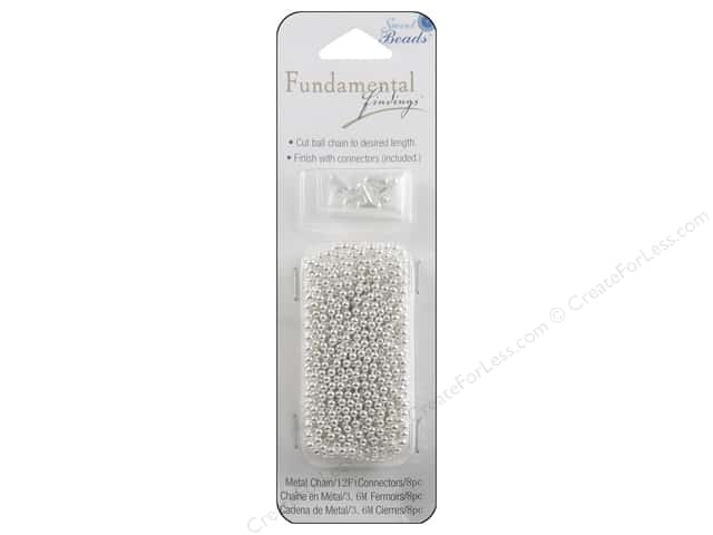 Sweet Beads Fundamental Finding Ball Chain 2.4mm Silver 12ft
