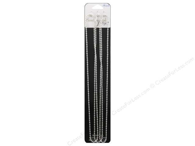 Sweet Beads Fundamental Finding Ball Chain 2.4mm Silver 18 in.