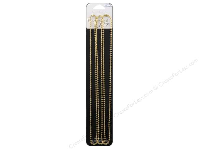 Sweet Beads Fundamental Finding Ball Chain 2.4 mm 3 pc. Gold 18 in.