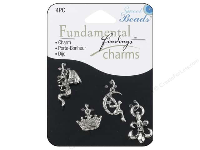 Sweet Beads Fundamental Finding Charm Fantasy Silver 4pc