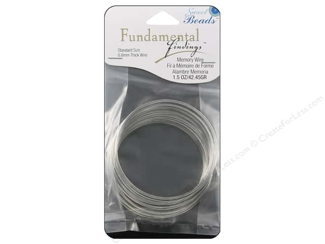 Sweet Beads Fundamental Finding Memory Wire .8 mm Standard 1.5 oz