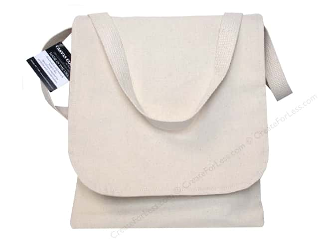 "Mark Richards Blank Canvas Book Bag 10.5""x 12"" Natural"