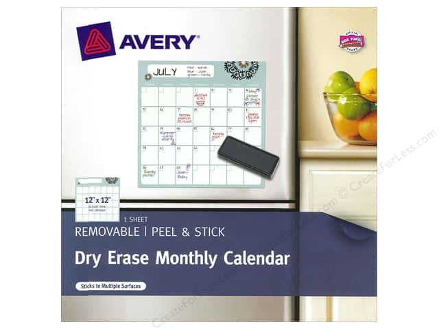 Avery Dry Erase 12 x 12 in. Monthly Calendar (3 sheets)
