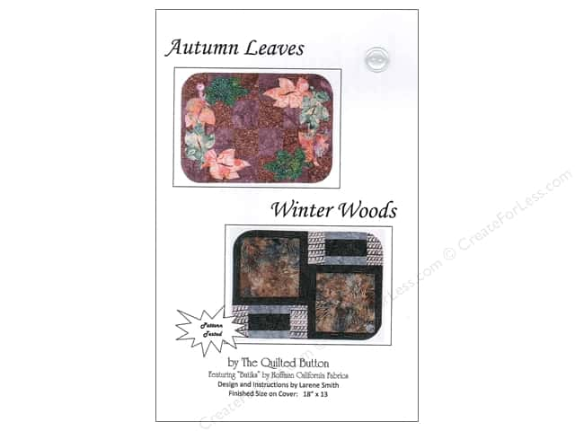 Quilted Button Autumn Leaves/Winter Woods Pattern
