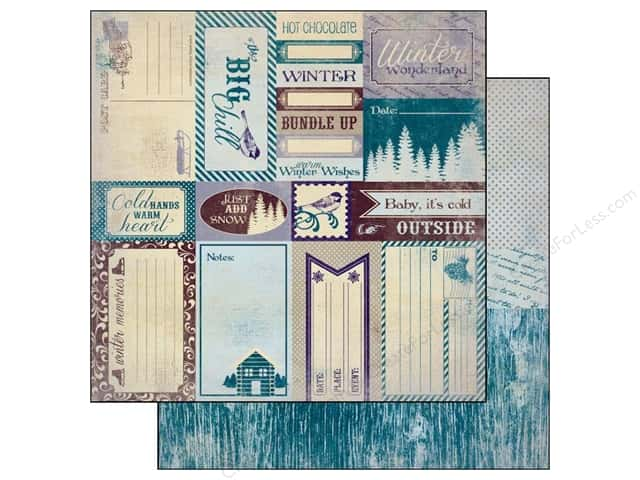 Authentique Paper 12 x 12 in. Seasons Winter Enhancement (25 pieces)
