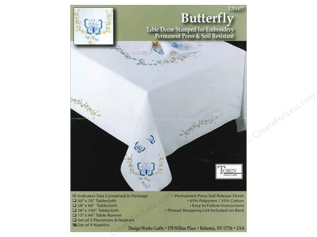 Tobin Stamped Napkins Butterfly 4pc