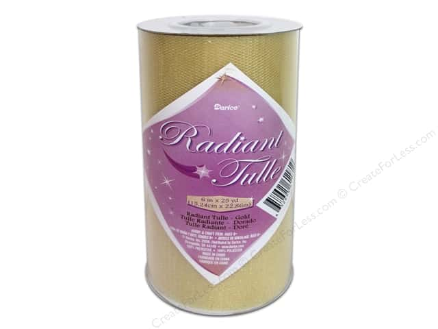 "Darice Tulle 6"" Radiant 6""x 25yd Gold (25 yards)"