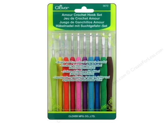Clover Amour Crochet Hook Set 10 pc. -- CreateForLess