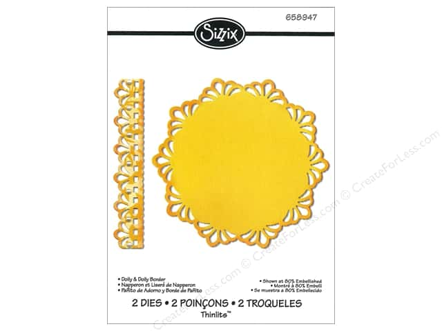 Sizzix Thinlits Die Set 2PK Doily & Doily Border by Jen Long