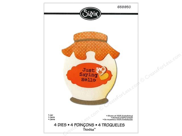 Sizzix Thinlits Die Set 4PK Jar by Jen Long