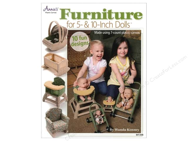 Annie's Furniture For 5 & 10 Inch Dolls Book by Wanda Kenney