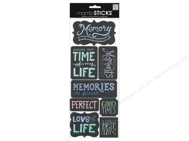 Me&My Big Ideas Sticker Sayings Chalk Memories