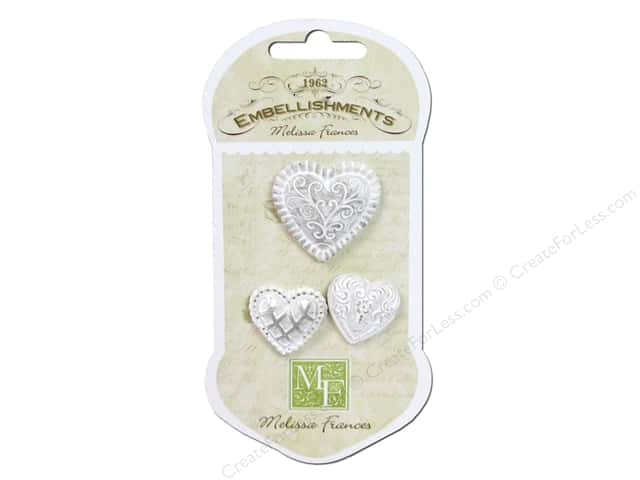 Melissa Frances With All my Heart Resin Embellishments