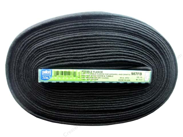 "Pellon Fusible Fleece Black 45""x 15yd (15 yards)"