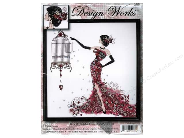 Design Works Cross Stitch Kit 16 x 17 in. Birdcage