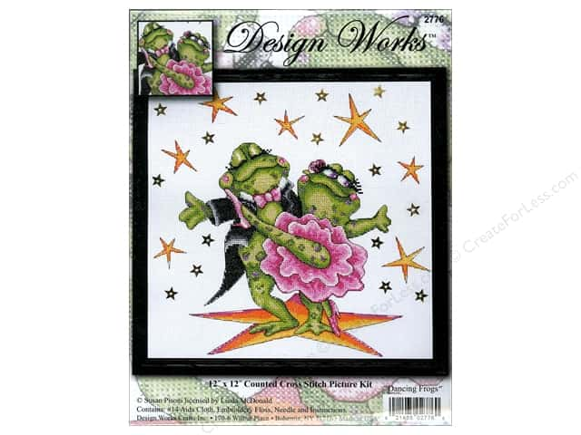 Design Works Cross Stitch Kit 12 x 12 in. Dancing Frog