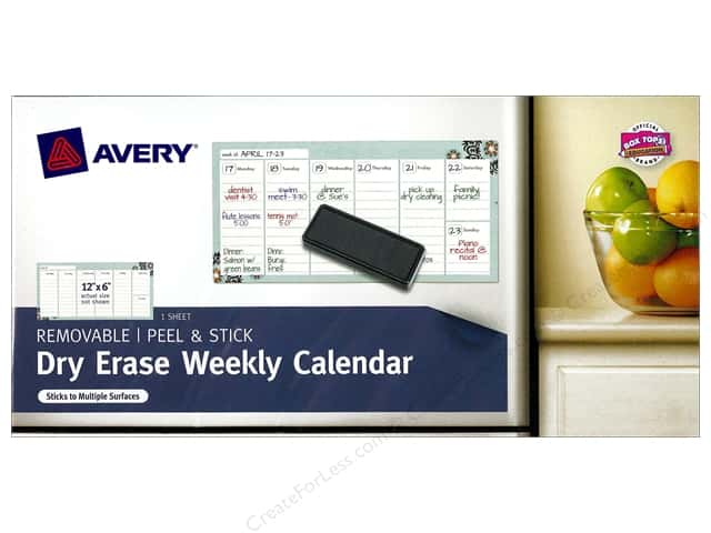 "Avery Removable Dry Erase Weekly Calendar 12""x6"""