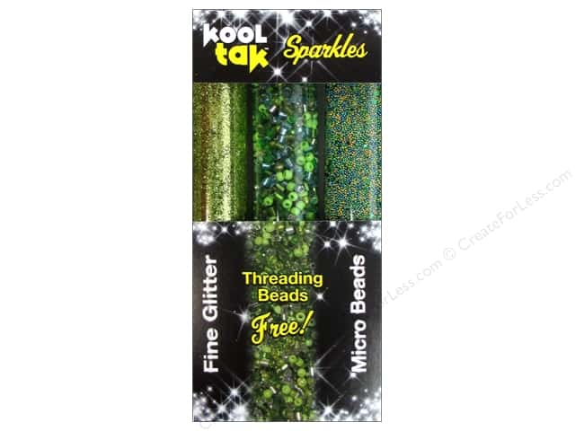 Kool Tak Sparkles Set Assorted Green 3pc