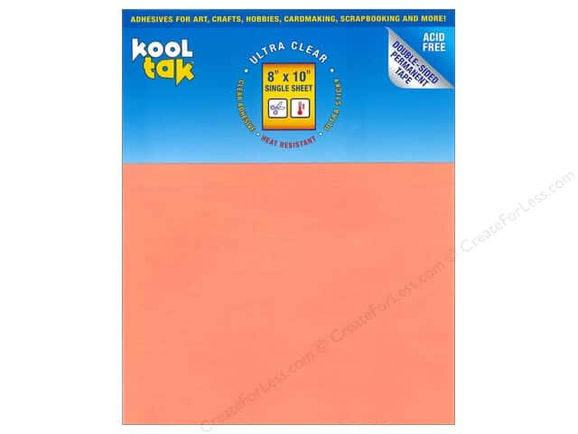 "Kool Tak Ultra Clear Adhesive Sheets 8""x 10"" 1pc"