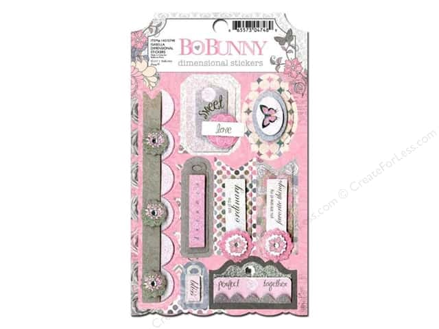 Bo Bunny Cardstock Stickers Dimensional Isabella