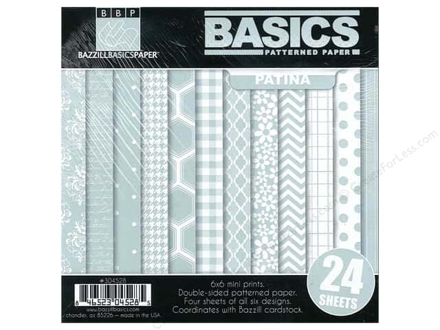 "Bazzill Multi Pack 6""x 6"" Basics Patina 24pc"
